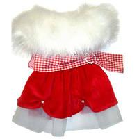 MonkeyDaze Santa Dress новогоднее платье Санта одежда для собак XS