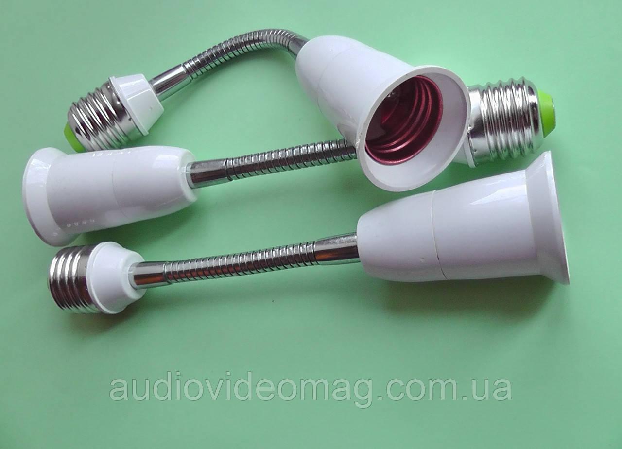 Переходник-светильник 19 см, на гибкой ножке для ламп с цоколем Е27