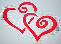 Два сердца А3 - декор для жидких обоев