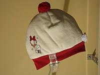 """Шапка шапочка с помпоном, с бантиком с """"Daisy"""" """"Disney"""", девочка, бело-розовый, бело-красный 123BCLA002 BRUMS,"""