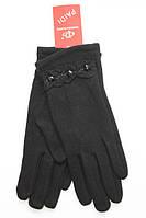 Теплые женские трикотажные перчатки