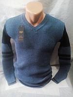 Мужской приталенный осенний свитер 44-48 рр