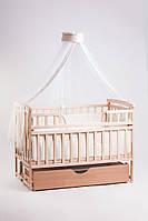 Кровать детская Детский сон с шухлядой, натуральный цвет, фото 1