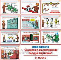 """""""Безопасность при эксплуатации сосудов под давлением"""" (10 плакатов, ф. А3)"""