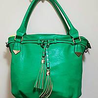 Сумка ярко-зеленая из кожзама