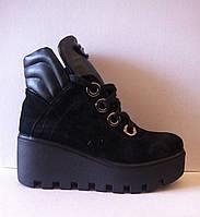 Женские ботинки в замше и коже код 270