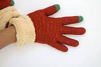 Двойные сенсорные вязаные перчатки