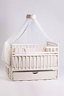 Кровать детская Детский сон с шухлядой, слоновая кость