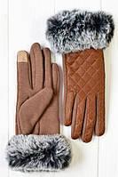 Красивые женские перчатки на меху