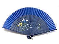 Веер для танцев из шелка и бамбука