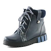 Ботинки зимние женские SND SDZ238-1 синяя кожа