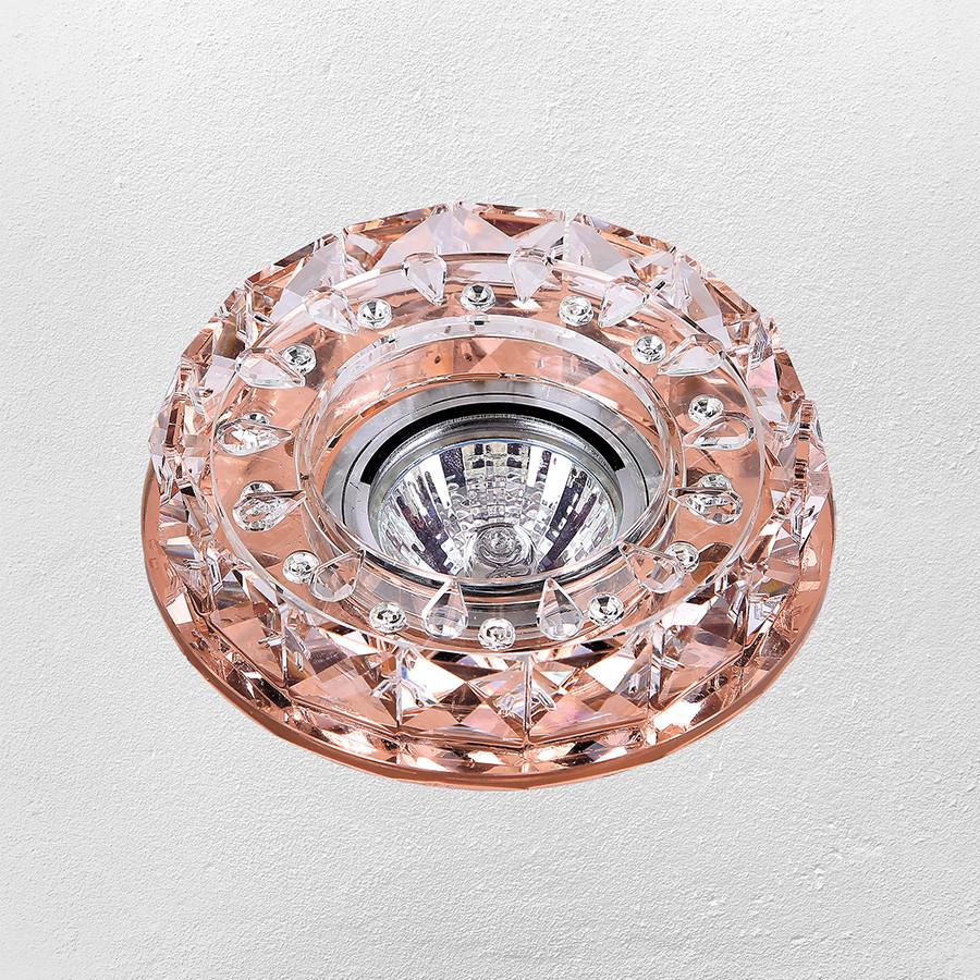 Точечный врезной светильник (модель 16- B019 коричневый