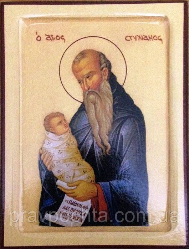 Икона Святой Стилиан Пафлагонский 140 х 105 х 18 мм