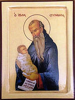Икона Святой Стилиан Пафлагонский 140 х 105 х 18 мм, фото 1