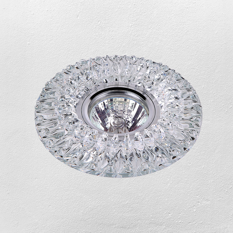Точечный врезной светильник (модель 16- B036 зеркальный)