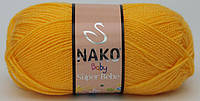 Детская пряжа нитки для вязания Nako Baby Super Bebe