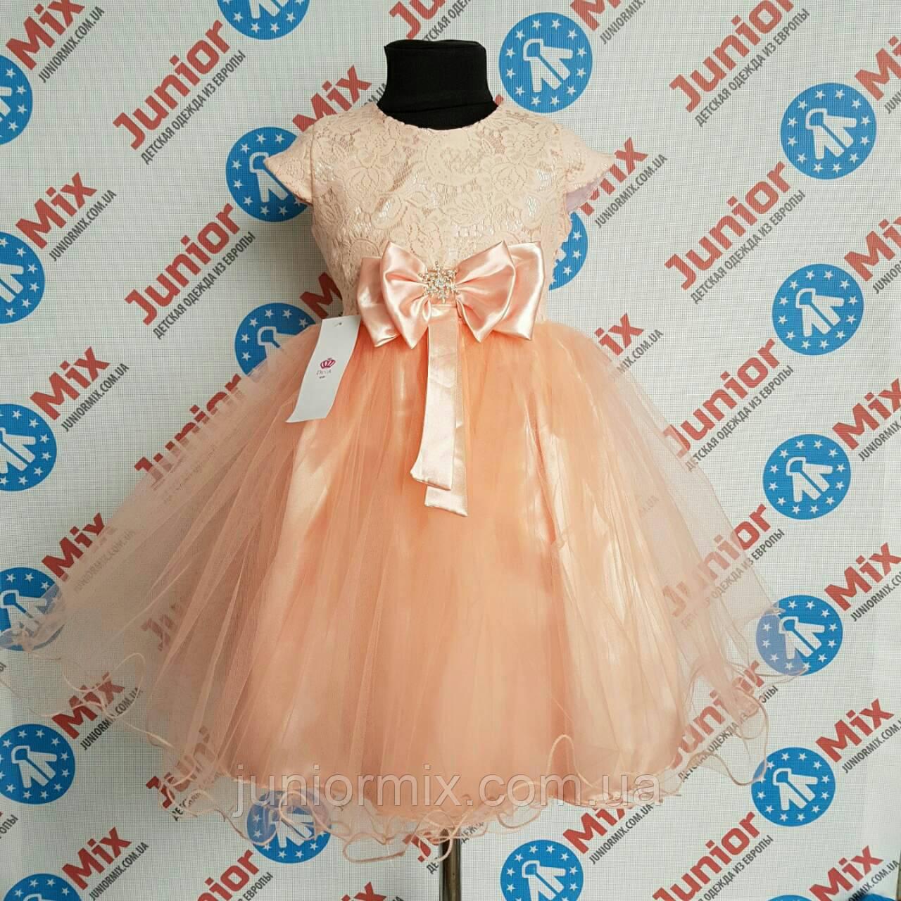 Платье нарядное на девочку гипюр и шифон DEVA. ПОЛЬША.