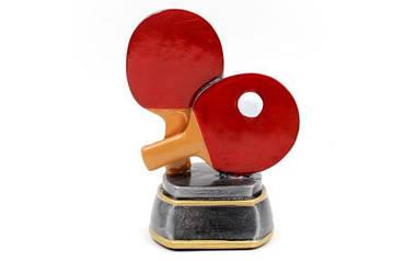 Статуэтка (фигурка) наградная Кубок Ракетка для пинг-понга р-р: 10х7х14см. C-2478-C8