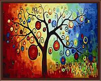 Раскраски по цифрам 40×50 см. Дерево богатства.
