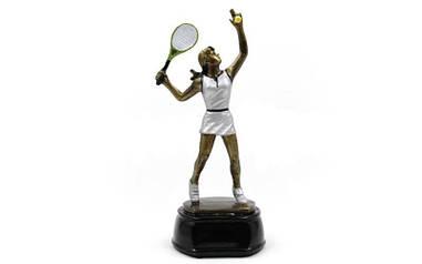 Статуэтка (фигурка) наградная спортивная Большой теннис женский C-2688-B11 (р-р 10х9х23см)