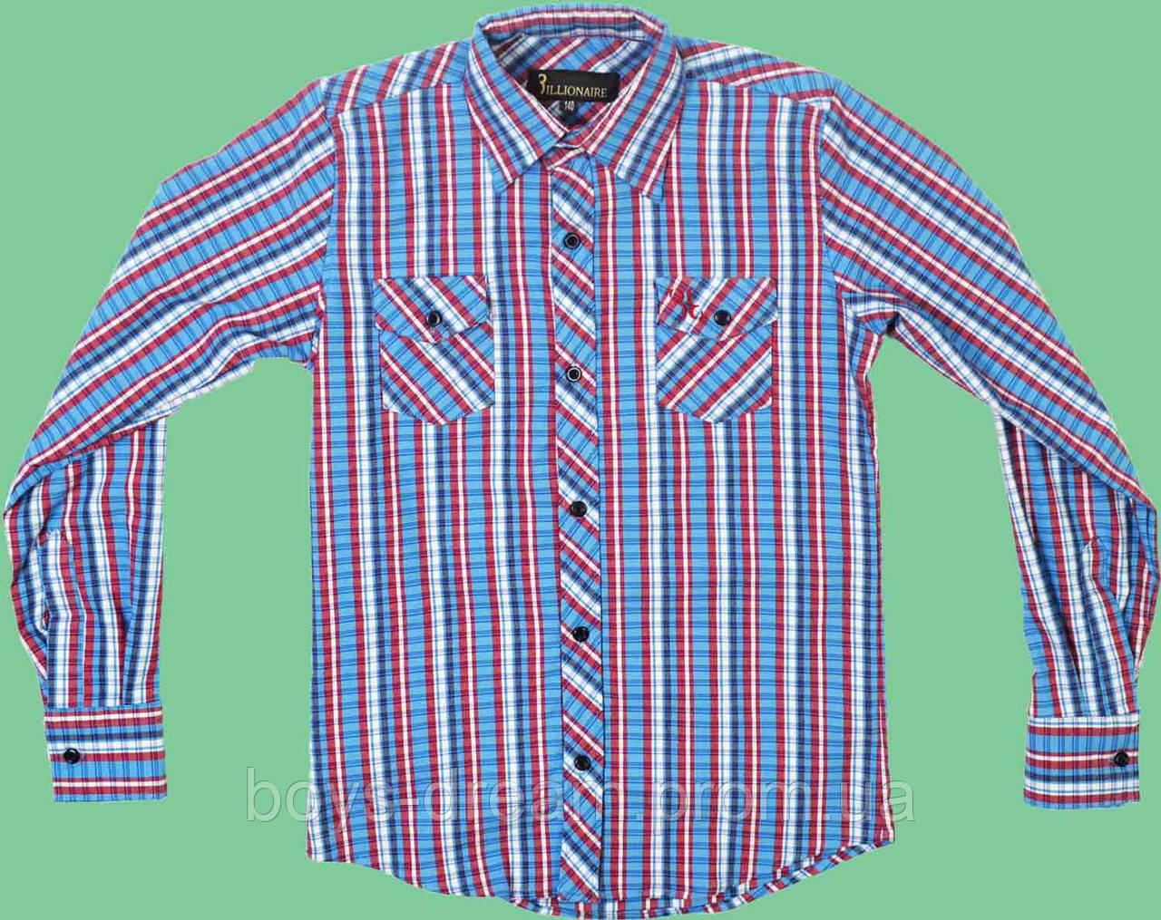 Рубашка для мальчика теплая (140-176) Турция