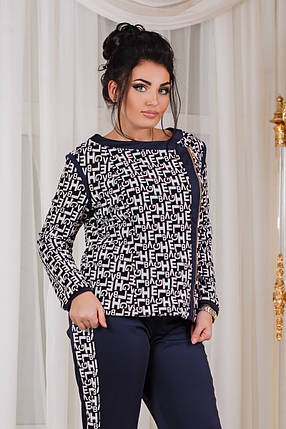 Д1018 Женский костюм  кофта+штаны размеры 50-56, фото 2