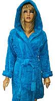 Бамбуковый женский махровый халат-короткий