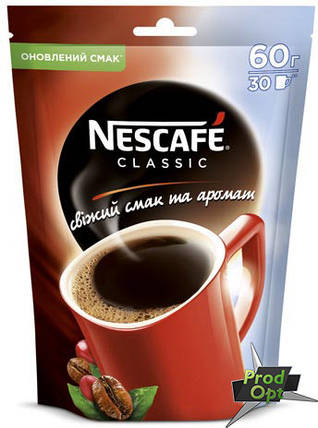 Кава розчинна Нескафе Класік 60 г , фото 2