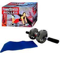 Тренажер колесо двойного действия с ковриком, тренажер для пресса, тренажер колесики, растяжка пресс, тренажер рук пресса, колесо двойного девствия