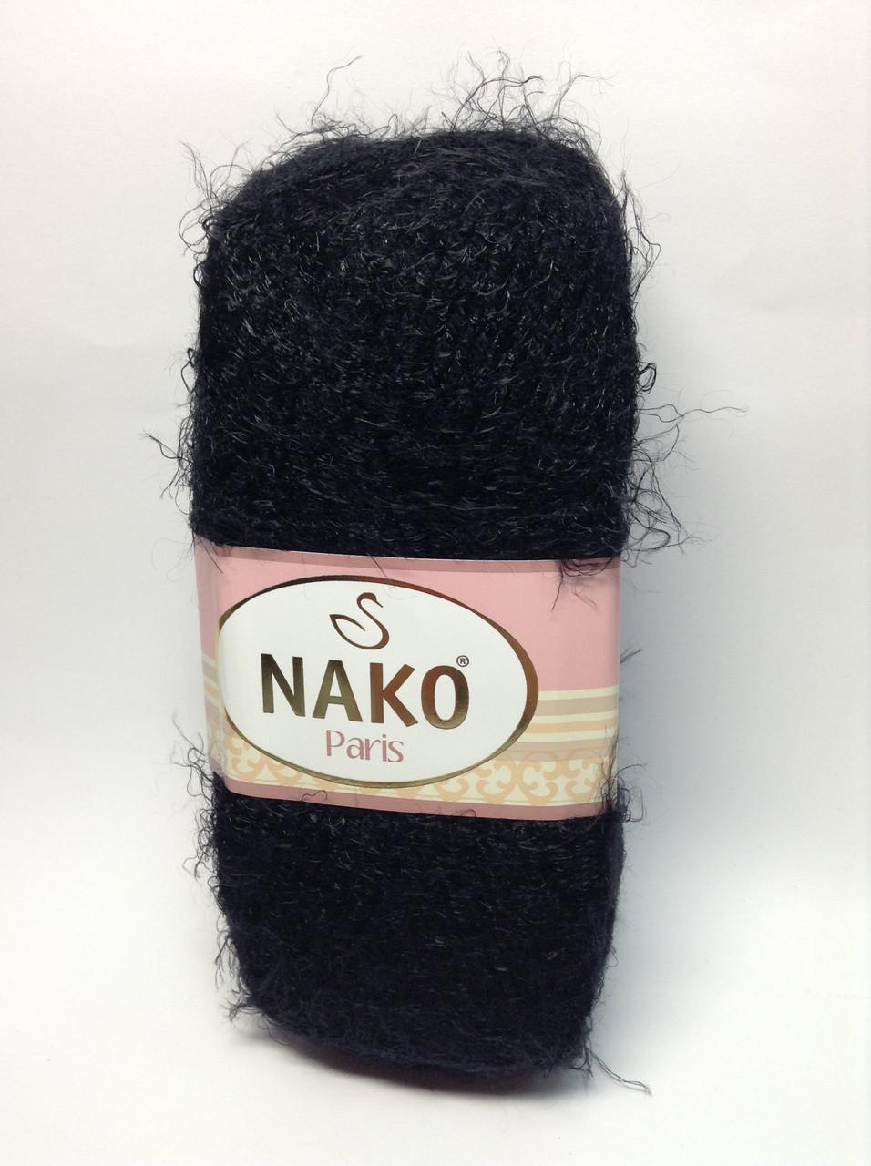 Пряжа nako paris - цвет черный