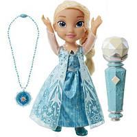 Disney's Frozen поющая Эльза с микрофоном  и ожерельем Sing Along Elsa with Bonus Necklace
