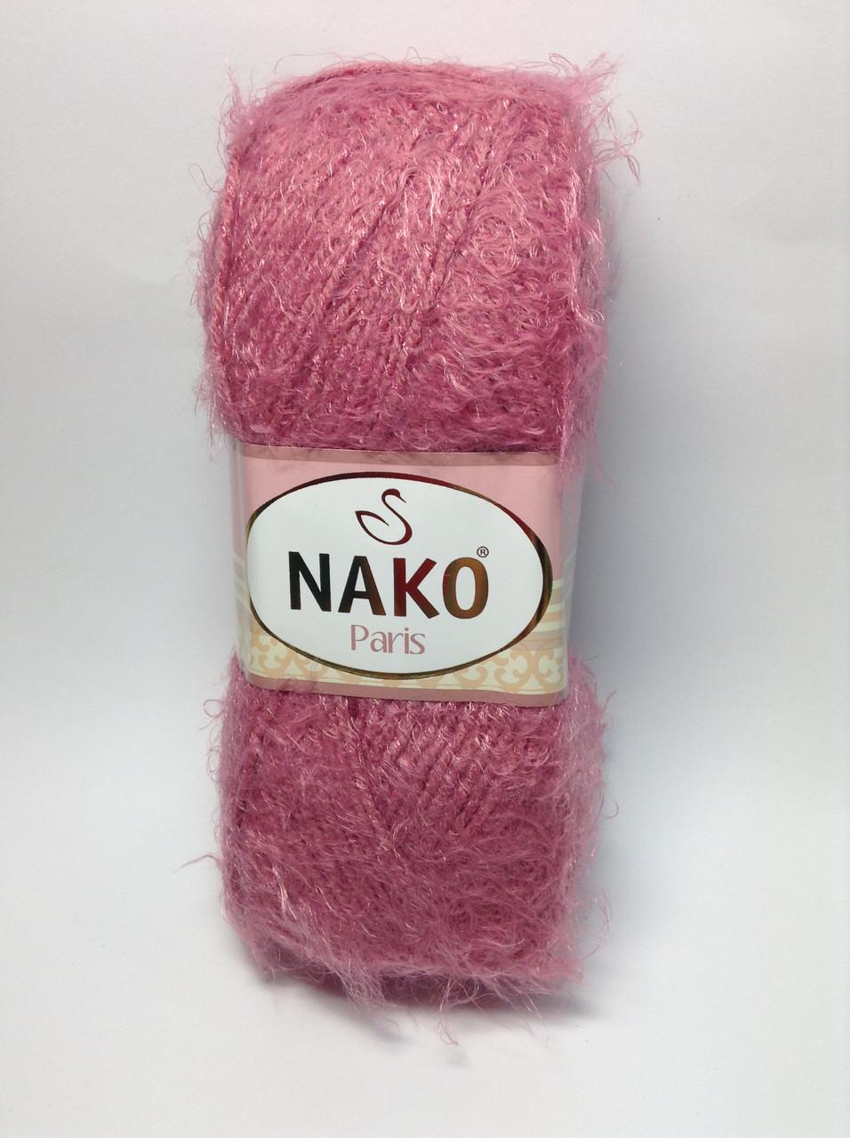 Пряжа nako paris - цвет темно-розовый