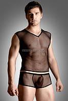 Комплект «Net set - shirt and thong» черный, XL