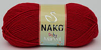 Детская пряжа нитки для вязания Nako Baby Marvel