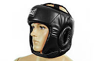 Шлем боксерский открытый синний PU EVERLAST BO-4493-BK