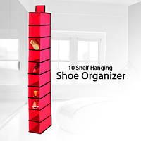 Подвесной органайзер для обуви Hanging Shoe Organizer, кофр для обуви, подвесная полка обуви, полочка для обуви, подвесные полочки для шкафа