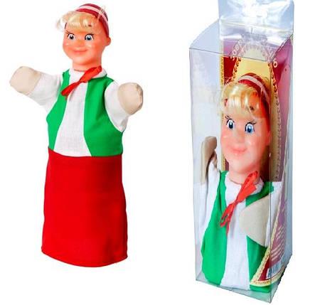 """Лялька-рукавиця """"БУРАТІНО"""" (пластизоль, тканина)(Ч), фото 2"""