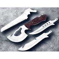Многофункциональный нож туристический Егерь 4 в 1, туристический набор, нож походный, туристический нож, нож с насадками, походный набор