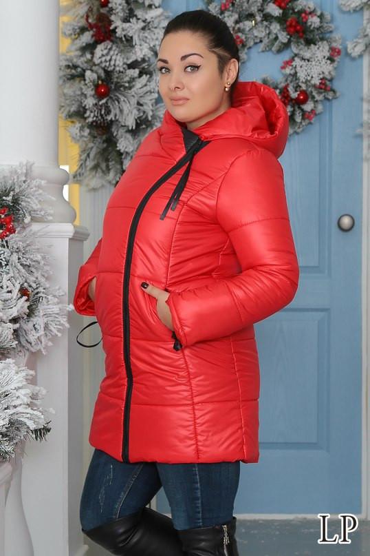 Зимняя куртка-пальто на синтепоне большого размера батал - Стильная женская одежда оптом, платья макси и мини, блузки, пиджаки,женские костюмы,юбки VIVA SECRET в Одессе