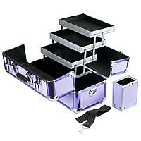 """Профессиональный алюминиевый кейс для косметики """"Exclusive Series"""", фиолетовый, фото 1"""