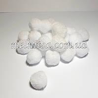 Помпончики, 2 см, цвет белый, 25 шт.