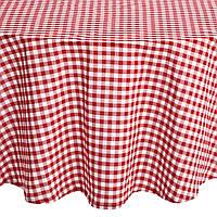 Декоративная ткань Пепита клетка (красный)