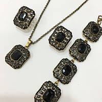 Комплект бижутерии с кристаллами 25032