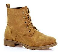 Модные,женские ботинки коричневого цвета