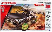 Конструктор металлический Meccano Build & Play Раллийная машина с мотором  (390 дет, 25 моделей)