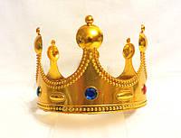Корона короля золотистая, высота 12 см