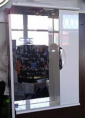 Дзеркало З-01ВР-55 біле (550*165*705) праве з підсвічуванням, ТМ Ніколь