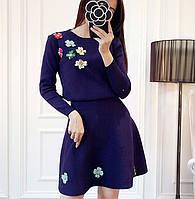 Женский костюм с вышивкой,кофта + юбка, в расцветках