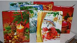 Пакет новогодний  18х22х8 см