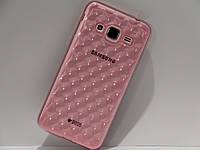 Чехол для смартфона Samsung Galaxy J5 J500, J3 J320 капля розовый, фото 1